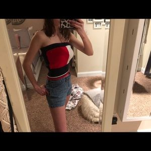 tommy hilfiger tube top!